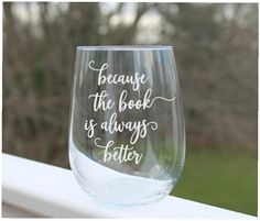 Etched stemless Wine Glasses, Custom Wine Glasses, bridesmaid glass Fun Wine Glasses, Etched Wine Glasses, Custom Wine Glasses, Personalized Wine Glasses, Silent Night, Wine Cellar, Bridesmaid, Tableware, Handmade