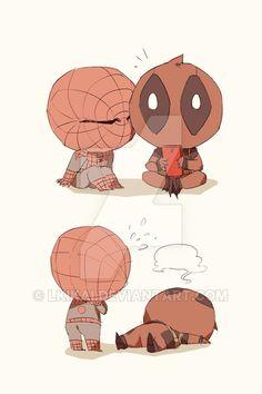 Deadpool x Spiderman imagenes Spideypool, Superfamily, Deadpool X Spiderman, Batman, Marvel Comic Universe, Marvel Dc Comics, Iron Man Capitan America, Spaider Man, Thor Y Loki
