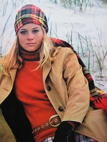 """In August, 1969, Cybill Shepherd at Hunter College, was one of several college women featured in the college issue of """"Glamour"""" fashion m..."""