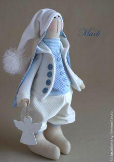 Игрушки животные, ручной работы. Ярмарка Мастеров - ручная работа Зайка-ангелочек Маrk. Handmade.