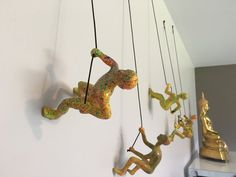 5 Piece Climbing Sculpture Wall Art Gift For Home Decor Interior Design Rock Climbing Man Contemporary Artwork MULTI-COLOR FLUO