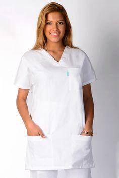 Tunique medicale femme blanche Alexis 100% Coton - Lafont Beauty Uniforms, Lafont, Chef Jackets, Collection, Fashion, Outfit Work, Workwear, Unisex, Tunic