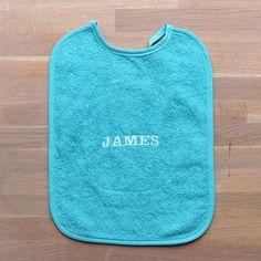 blauw slabber met naam | lettertype speels | bestel op www.stixels-gifts.nl