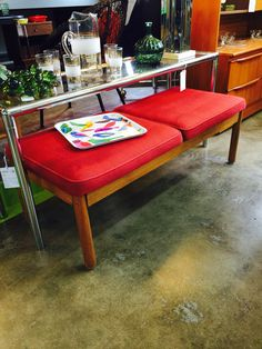 Old University of Tennessee university center, solid oak bench. More info at midmodcollective@gmail.com SOLD!