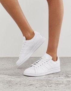 d02e36b9216838 adidas Originals white Stan Smith trainers