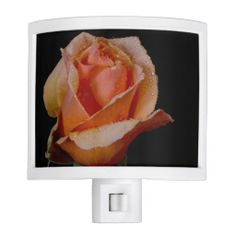 Lovely Orange Rose Dew Drops Night Light from Florals by Fred #zazzle #gift #photogift