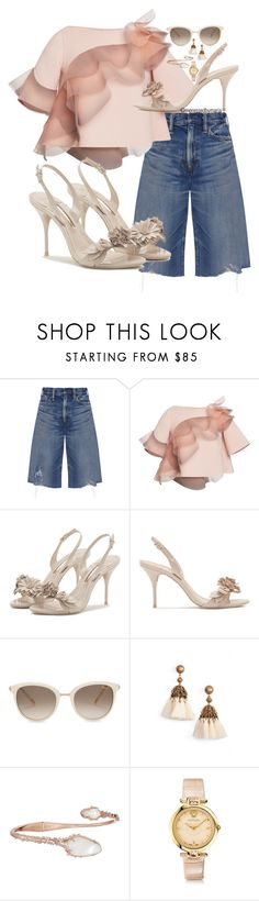 """Ruffles"" by mpressed-style-by-maria ❤ liked on Polyvore featuring Simon Miller, Marc Jacobs, Sophia Webster, Chopard, Loren Hope, Kendra Scott and Versace"