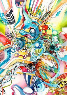 Unlimited Curiosity - Watercolor + Pen Art