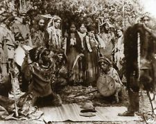 Native American Ojibwa Indians Gambling Michigan 1902 Moccasin Game MUST SEE