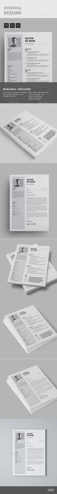 Illustrator Resume Templates Modern Infographic Resume  Cv Template Psd Ai Illustrator