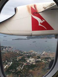 Passageiros em um voo da Austrália para Papua Nova Guiné ficaram chocados ao olhar para o lado de fora da cabine e encontrarem uma cobra de 3 metros na asa do avião.