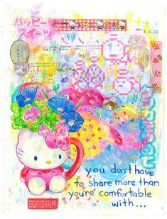 """グミ★ (gumi) on Twitter: """"generally speaking… """" Art Journal Inspiration, Art Inspo, Pretty Art, Cute Art, Funky Art, Hippie Art, Kawaii Art, Art Sketchbook, Drawing Reference"""