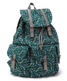 ENVOY Women's Floral Vintage Backpack (green)