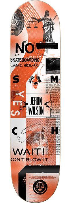 Girl Skateboards Jeron Wilson La8 x Art Dump Skateboard Deck