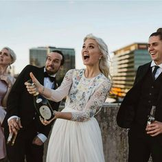 """3,276 Likes, 35 Comments - The Wedding Pic (@theweddingpic) on Instagram: """"Popping the cork, pouring sparkly and fizzy champagne is always a sign of a good night + an ever…"""""""