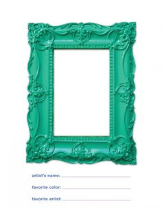 Great for art party!! frame