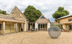 Barn conversion with stone and timber cladding