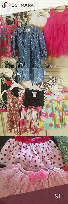 BUNDLE OF 12-18 MOS girls' dresses All items in excellent condition. 12 dresses and 2 skirts. babyGap, H&M, Macy's, Carter's, etc. Macy's Dresses