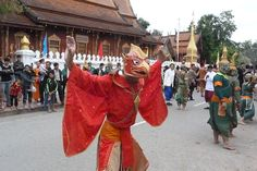 Parade to celebrate 20th Anniversary of Luang Prabang's UNESCO World Heritage Status December 9, 2015