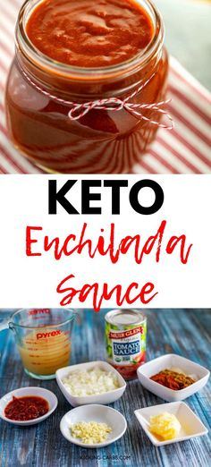 Looking for an easy low carb Enchilada Sauce?  You are going to want to try this Keto Enchilada Sauce Recipe!  It keeps well in the freezer making it perfect for meal prep.  #EnchiladaSauce #Keto Gluten Free Recipes For Breakfast, Healthy Gluten Free Recipes, Gluten Free Dinner, Dinner Recipes, Low Carb Enchiladas, Recipes With Enchilada Sauce, Protein Pack, Freezer, Free Food