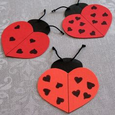 Love-ly Ladybugs free template- cute #Valentine's Day craft for #children (pinned by Super Simple Songs) #educational #resources valentine crafts, idea, valentine day crafts, heart, valentine day cards, valentine cards, bug crafts, ladi bug, kid