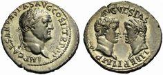 Vespasianus and his 2 sons, Titus and Domitianus