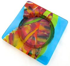 Fused Glass Wine Bottle Coaster ? L?'au