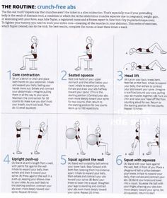Crunch Free Ab workout