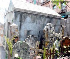 tombstone & vault inspiration for Halloween
