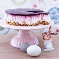 Blueberry-Cream-Cheesecake mit Crunchyboden Rezept | LECKER