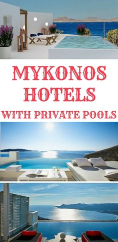 Planning a tripto Mykonos, Greece and looking for a luxury hotel? Check out the best hotels in Mykonos with private pools perfect for a honeymoon in Mykonos.
