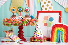 How to have a rainbow themed birthday party