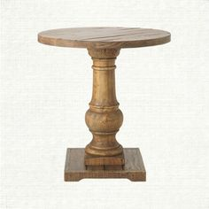 """Hudson 26"""" Round End Table In Natural"""