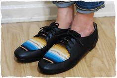 swellmayde: diy | serape print shoes