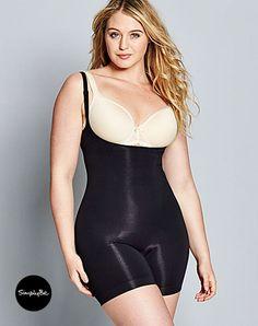 e1cf77bd9 Wear your own bra with this magi sculpt medium control full slip shapewear.  Size 16