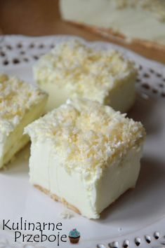 Ciasto Śnieżny puch - bez pieczenia - KulinarnePrzeboje.pl Puch Recipe, No Bake Desserts, Delicious Desserts, Sweet Recipes, Cake Recipes, Cheesecake, Sandwich Cake, Polish Recipes, Homemade Cakes
