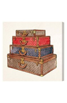 Oliver Gal The Royal Luggage Canvas Print available at #Nordstrom