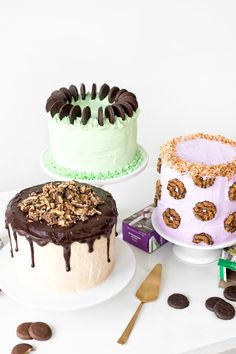 Sweet Tooth Girl | GIRL SCOUT COOKIE CAKES (THIN MINT CAKE, TAGALONG...