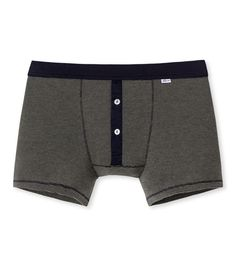 51db94b568 Luxuriously detailed button fly boxer pants crafted from pure soft cotton  melange jersey in a fine rib. Schiesser Karl-Heinz range for traditional ...