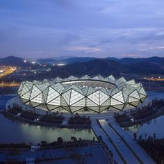 Three stadiums by GMP Architekten for the Universiade 2011 in Shenzhen. #architecture ☮k☮