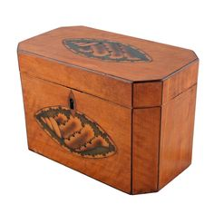 sheraton satinwood tea caddy