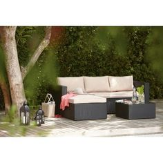 WOW Rattan Effect Garden Corner Sofa - Collect in Store