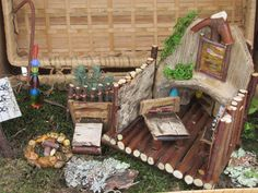 Lost Treasures Art Studio ~ Bamboo Fairy House ~ Repurposed beach combing and nature walk finds...Made by:  Robin Rivera ~ June 2015