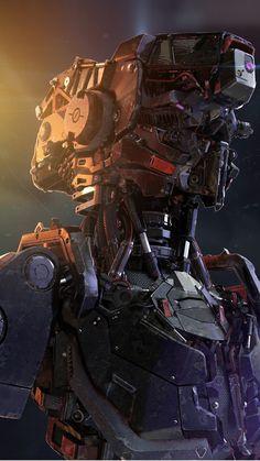 ArtStation - MEK-05 a Sci-fi Robot Portrait, Taehoon OH