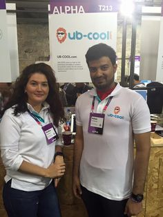 Our COOL Owner of UB-COOL.com 'Medina' and the Portal Manager 'Adam'  If you want to meet them- You can find them on Web Summit in Dublin, our stand T213  #websummit #Ireland #Dublin