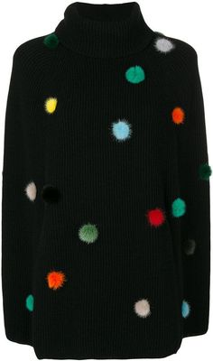 Fendi cashmere sweater with pompoms. Turtle-neck sweater fashions. I'm an affiliate marketer. When you click on a link or buy from the retailer, I earn a commission.