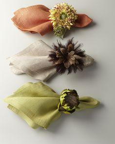 http://archinetix.com/deborah-rhodes-colorful-napkins-nature-inspired-napkin-rings-p-4655.html