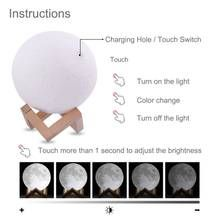 Beautiful Moon Lamp For Home Decor Perfect Gift Smart Explore In 2020 Lamp Light Colors Led Lights
