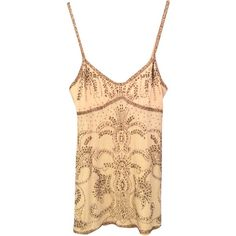 Pre-owned Abercrombie & Fitch Top ($56) ❤ liked on Polyvore featuring tops, lingerie, cami top, camisole tank tops, camisole tops, beige tank top and beige top