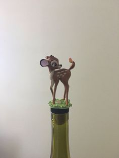 Bambi Gift,  Bambi, Wine Stopper, Deer, Kitchen Accessory by TheDecorativeCompany www.etsy.com/shop/thedecorativecompany